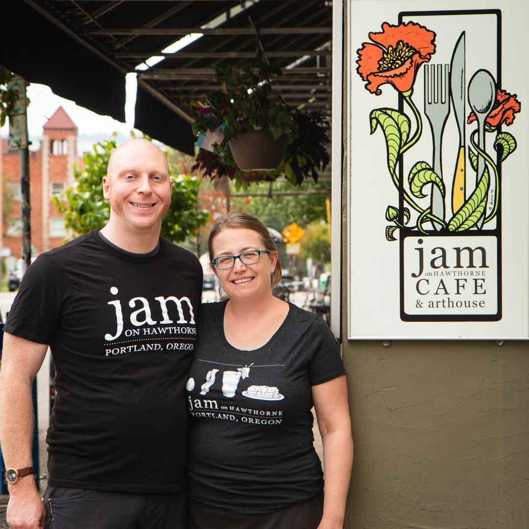 Gordon Feighner and Katie Prevost at Jam on Hawthorne